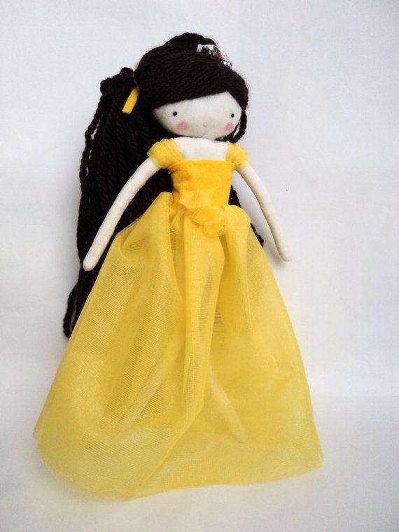 Disney Princess Belle Inspired Felt Doll