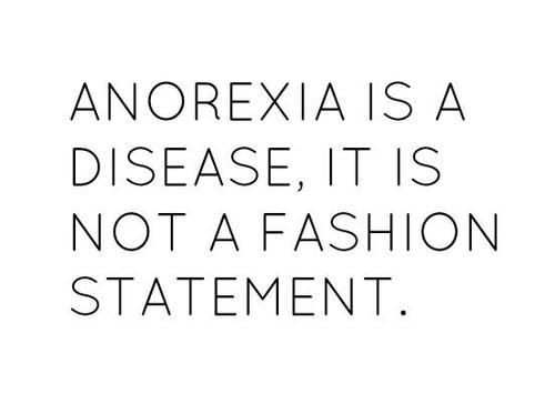 One of my best friends is suffering with anorexia?