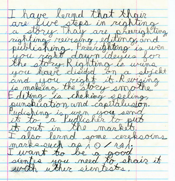 dysgraphia writing paper