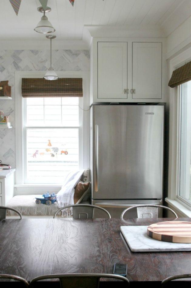 Fridge Next To Window Google Search Kitchen Farm
