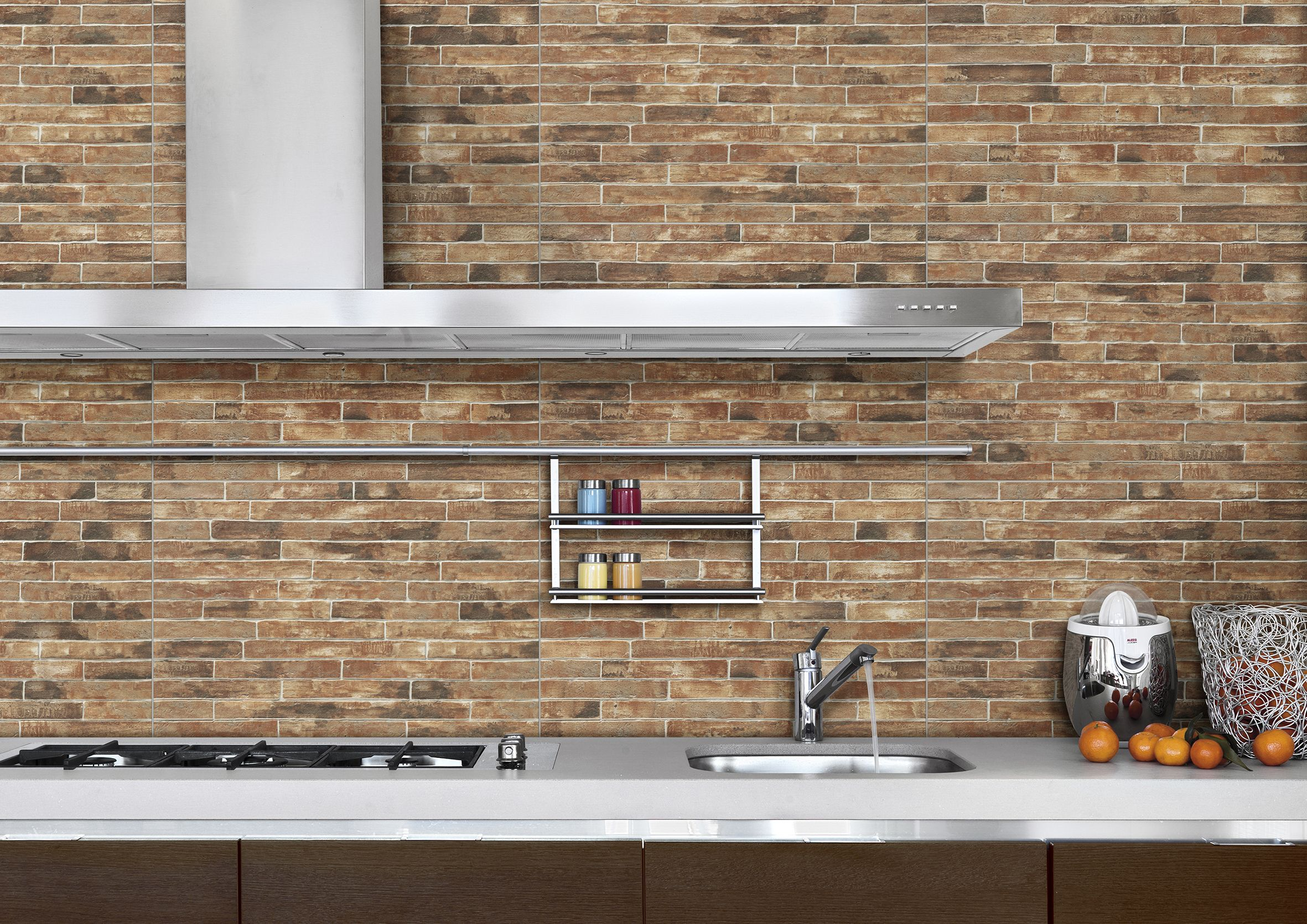 modern kitchen exposed brick wall  Google Search