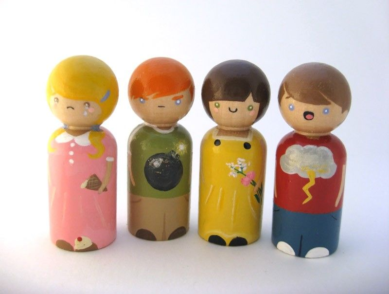 Emotions peg dolls