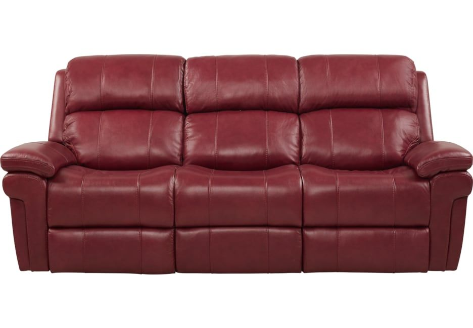 Trevino Burgundy Leather Reclining Sofa Sofa In 2019