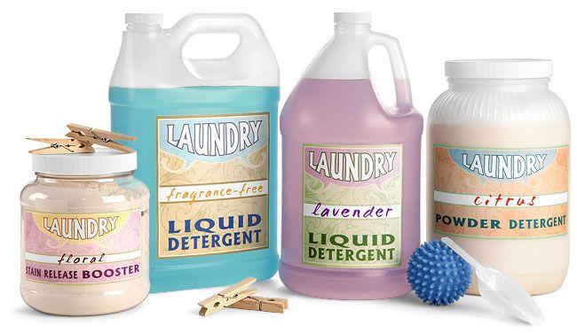 Laundry Detergent Bottles Jugs