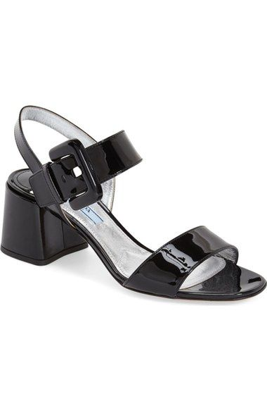 0a5b46e57bb Prada Buckled Block Heel Sandal (Women) available at  Nordstrom ...