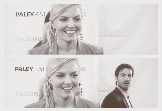 Jennifer & Colin checking her out lol :-P @ PaleyFest 2013