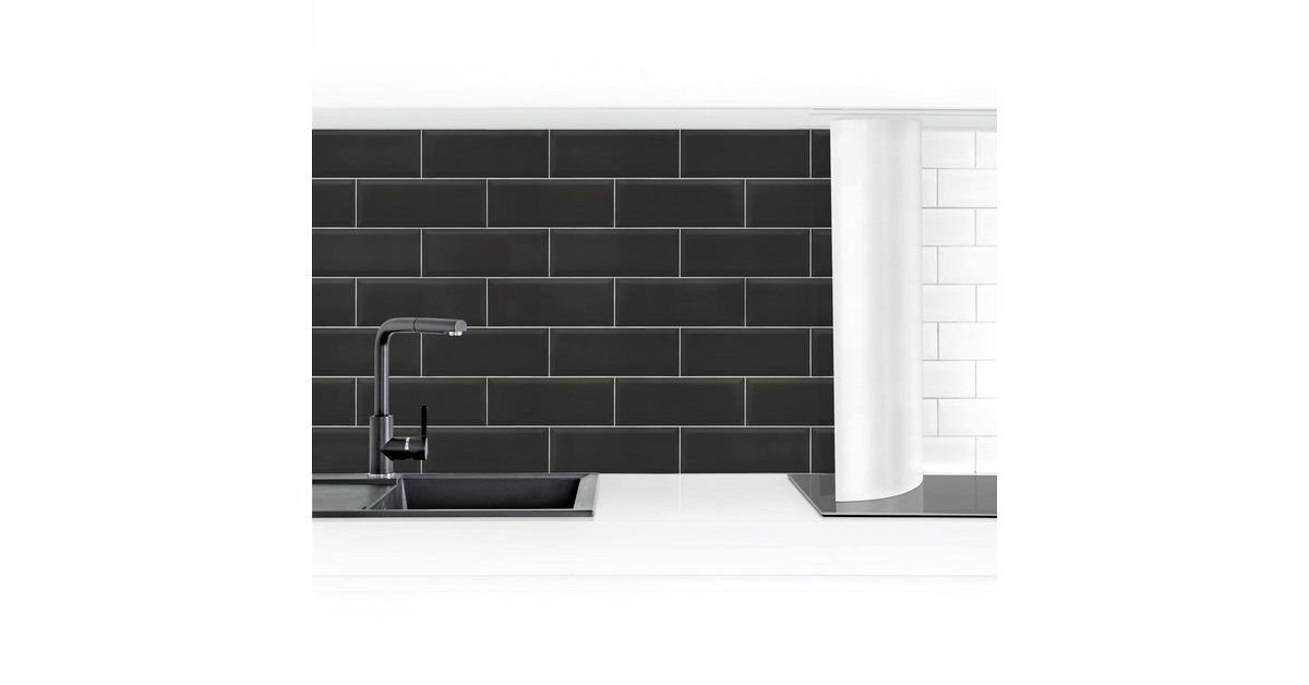 Photo of Imagery Buy kitchen back wall »Ceramic tiles black« online OTTO