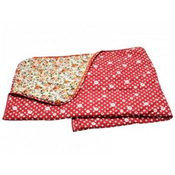 Claude Quilt / Sleeping Bag (Flora/Red Circles) by Lalé -create the look inspiration 102