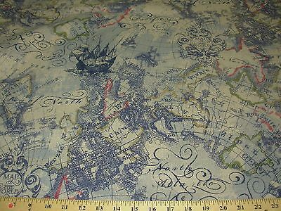 Btyold world mapmagellanawsome linen upholstery fabric for less bty old world map magellan awsome linen upholstery fabric for less ebay gumiabroncs