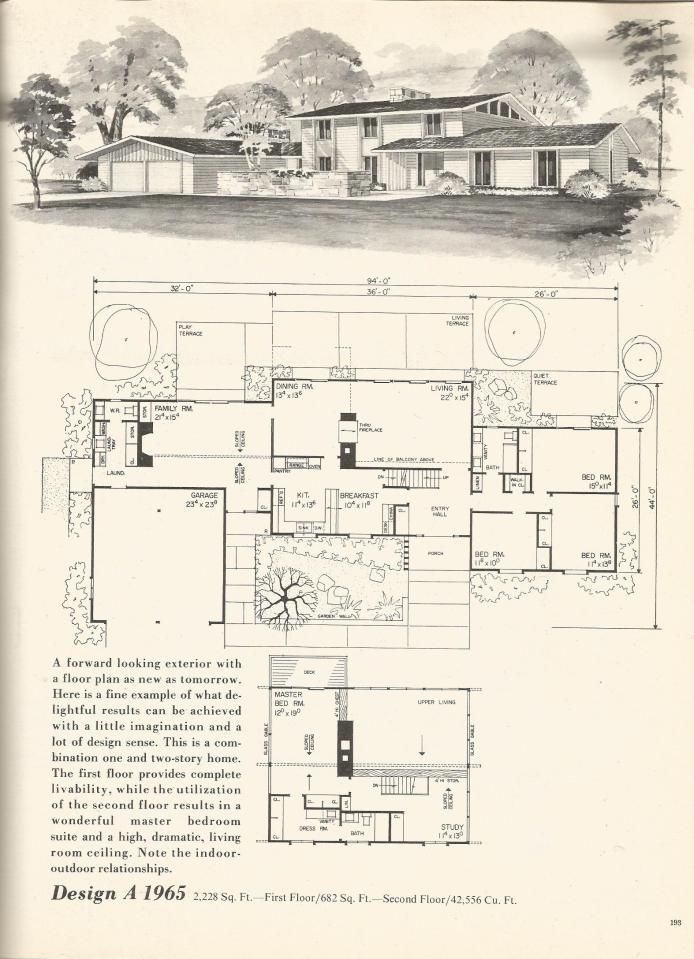 Vintage House Plans 1965 Vintage House Plans Vintage House House Plans With Pictures