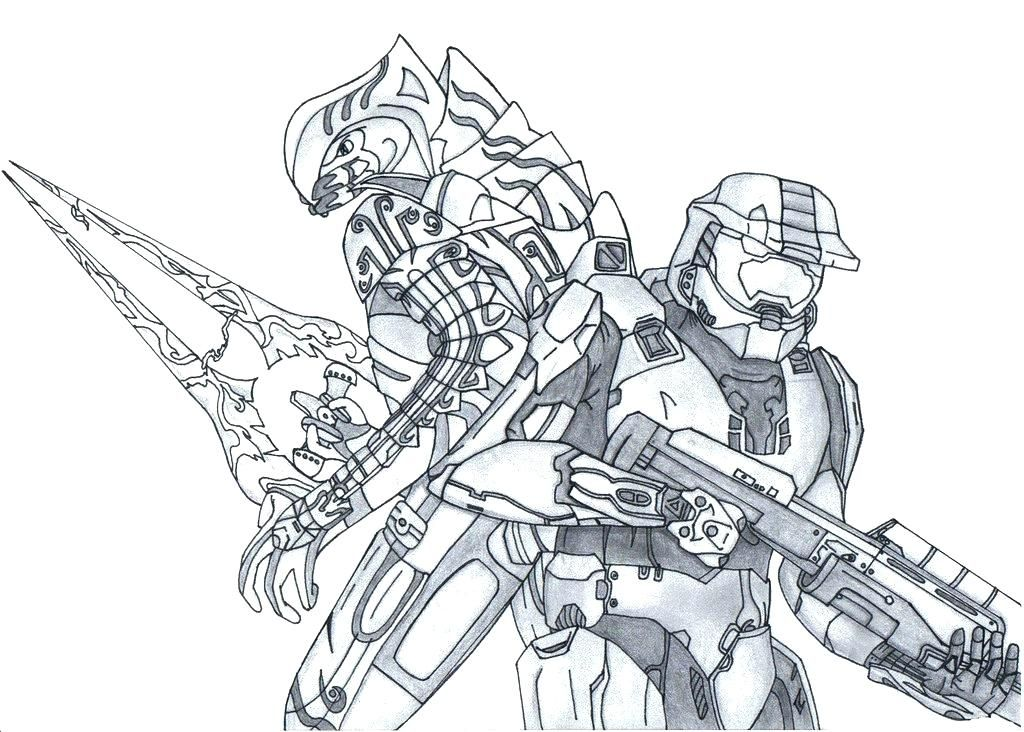 Image Result For Halo Master Chief And Arbiter Coloring Pages