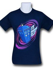 Doctor Who Bigger On The Inside Navy T-Shirt