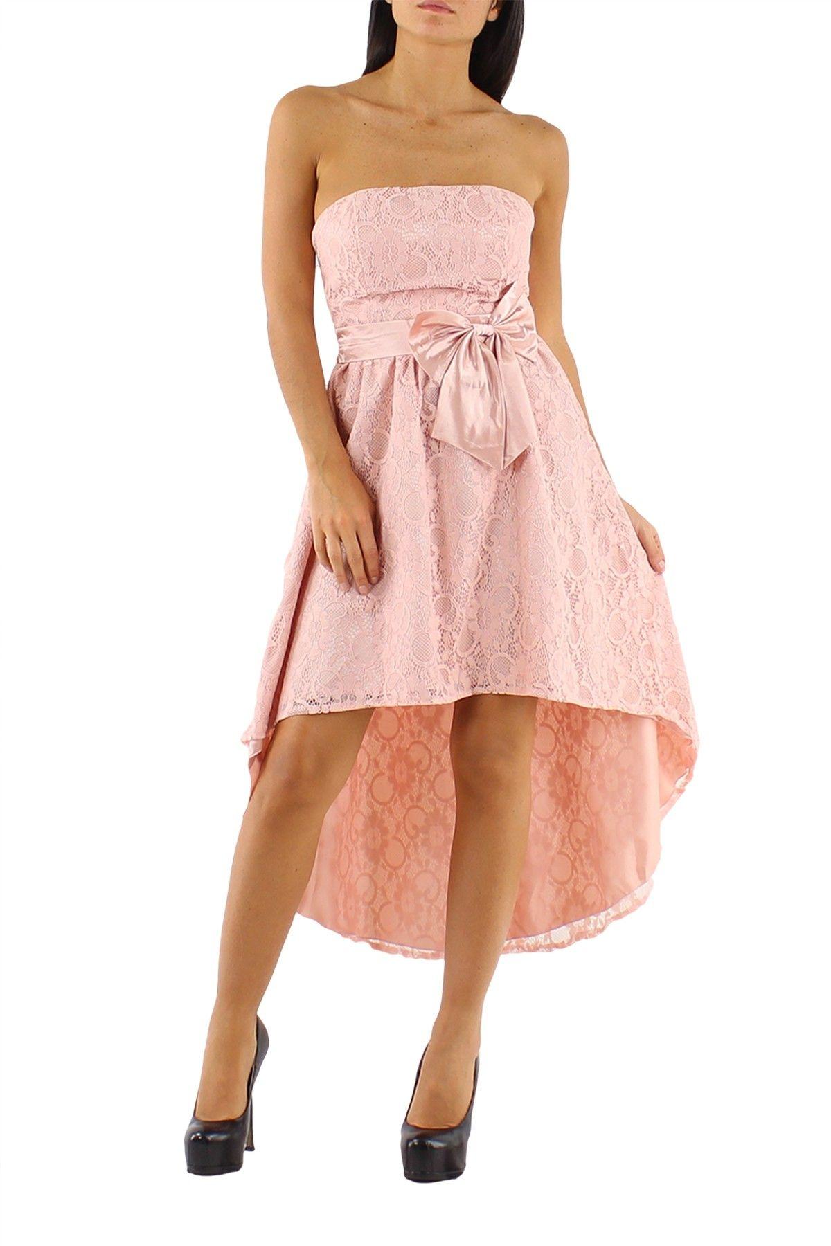 vestido largo Midi con falda asimétrica más larga por detrás y ...
