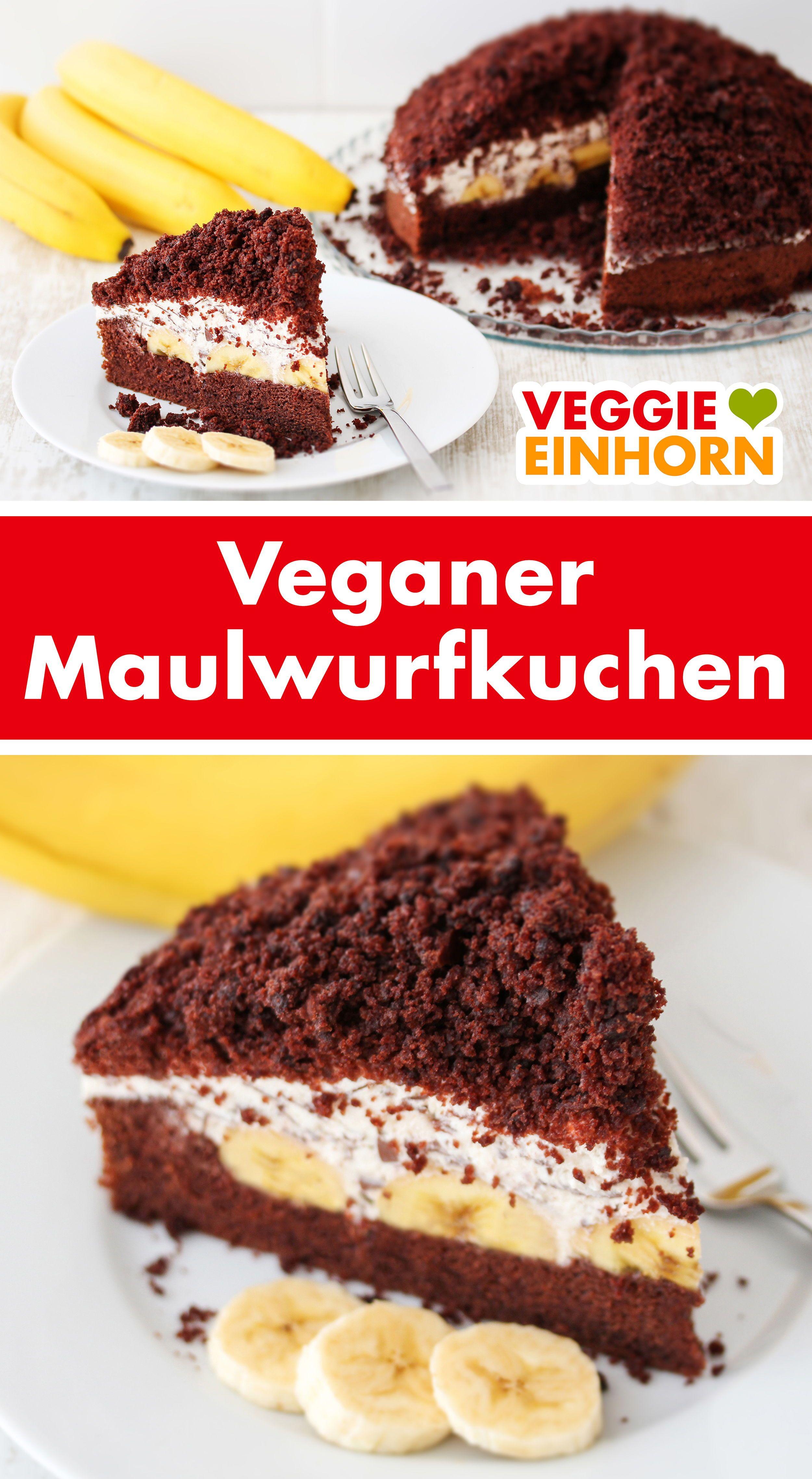 Veganer Maulwurfkuchen | Veganer Kuchen | Einfaches Rezept zum backen