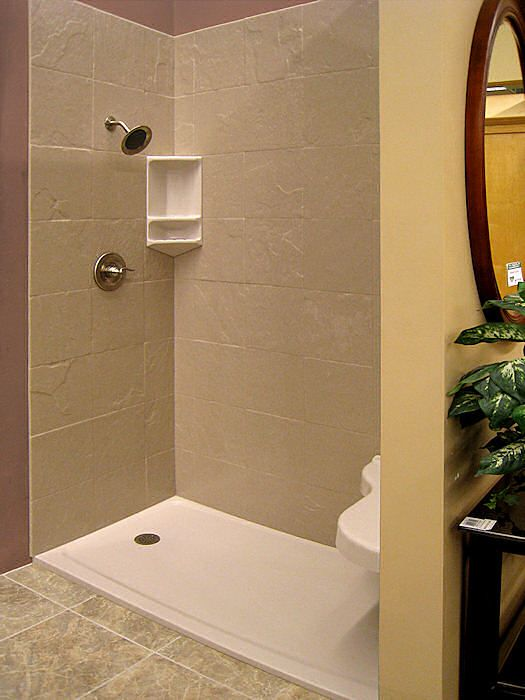 Standard Low Profile 60 X 32 Shower Base With A Left Drain And Tile Wall  Panels