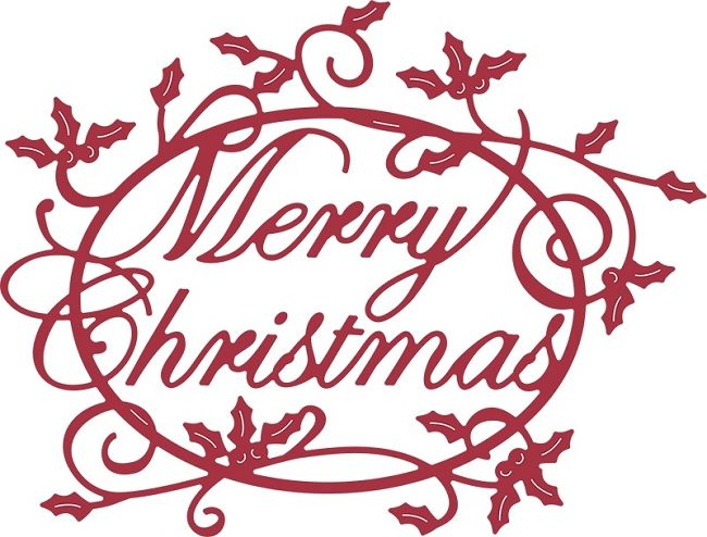 Kaisercraft - Flourishes - Die Cut Wood Pieces - Merry Christmas ...
