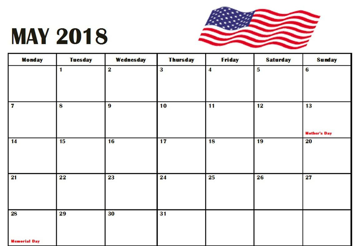 may 2018 united states holidays calendar