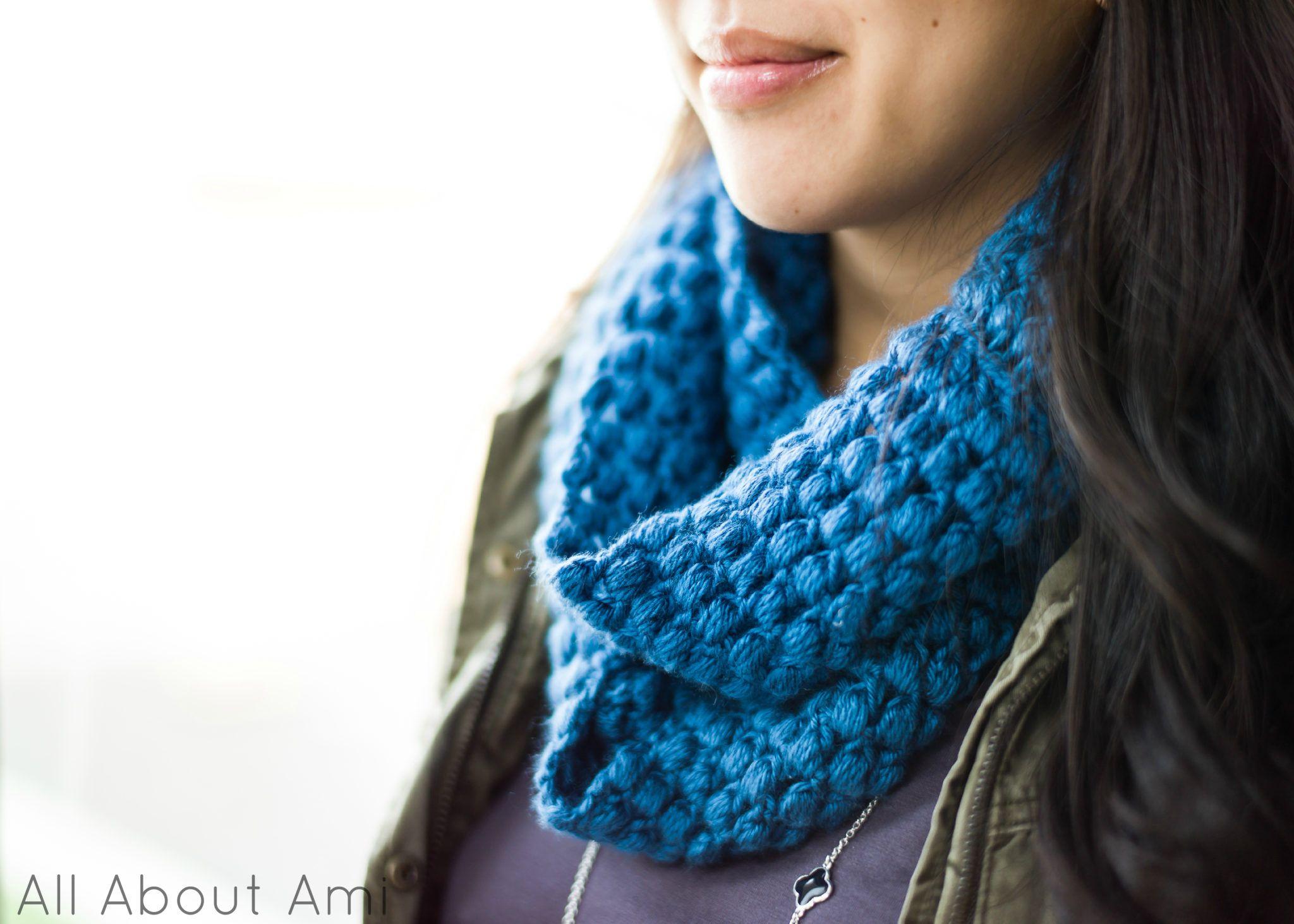 Puff Stitch Cowl | Crochet bufanda