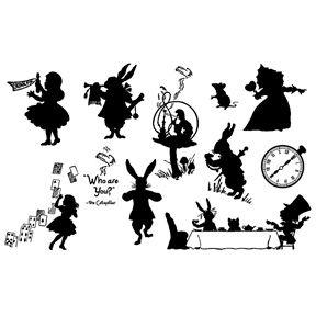 Alice In Wonderland Silhouette Decoration Con Imagenes Silueta