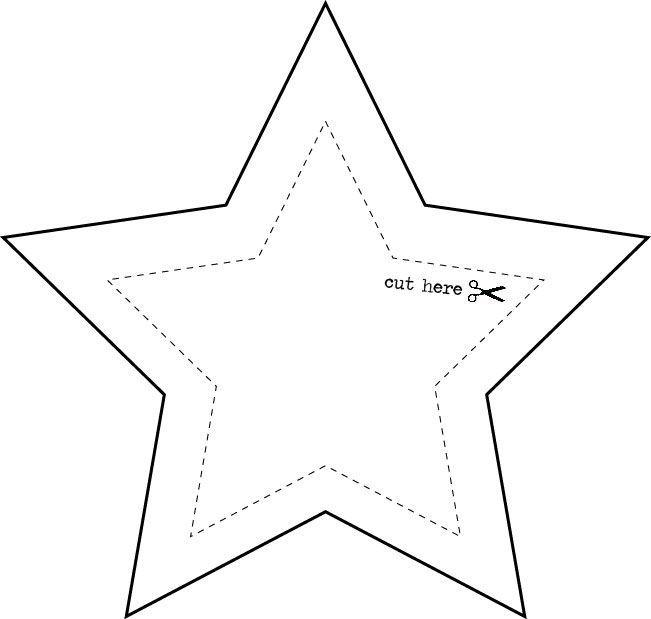Рисунки, шаблон звезды для открытки на 9 мая распечатать