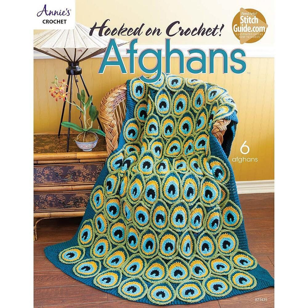 Hooked on crochet afghans crochet book by annies with deborah hooked on crochet afghans crochet book by annies with deborah norville peacock pretty crochet afghan pattern brand new bankloansurffo Image collections