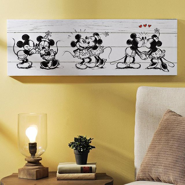 Master Br Celebrate The History Of Motion Pictures With Kirkland S Adorable Mickey Minnie Canvas Art Print This Wall Decor Is Perfect For Disney