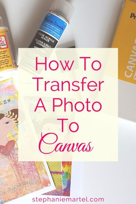 Come on over and check out how to transfer a photo to canvas. Click through for the quick and easy step-by-step instructions. #decopodge Come on over and check out how to transfer a photo to canvas. Click through for the quick and easy step-by-step instructions. #decopodge