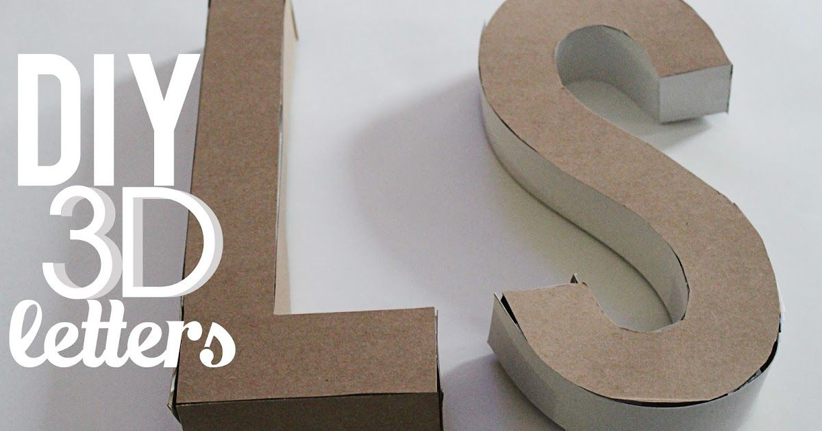 Diy 3d Letters Diy Marquee Letters Diy Letters Cereal Boxes Diy