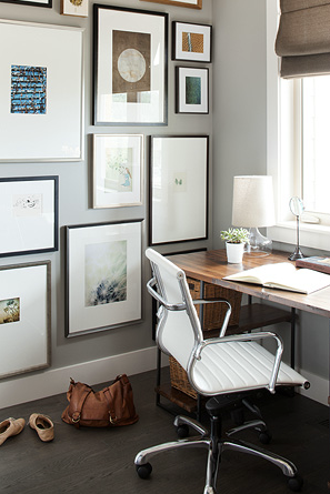 A Gallery Wall Displays All Your Precious Moments In The Chicest