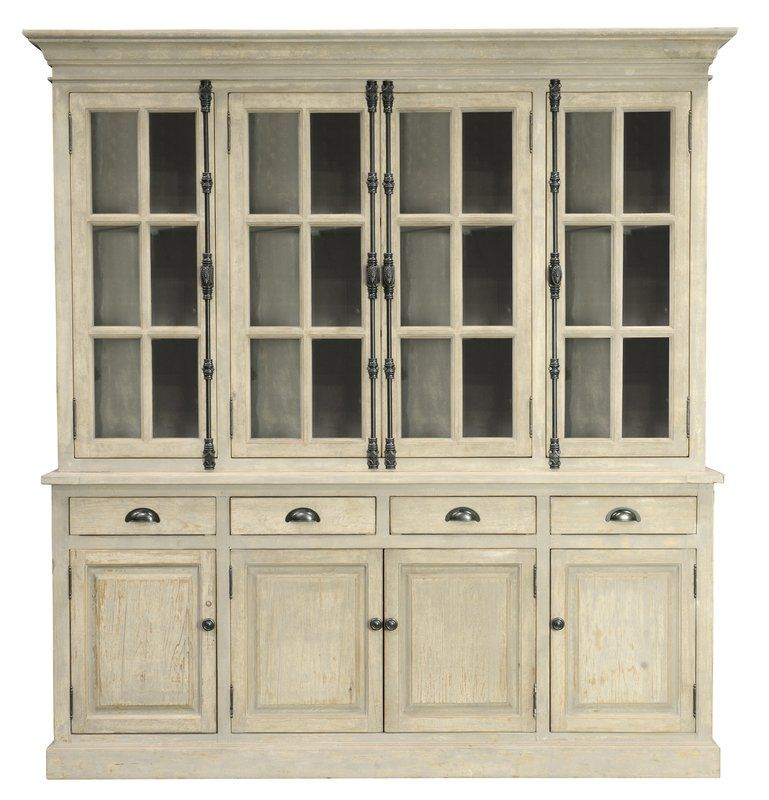 Hand Crafted Of Distressed Pine With A Vintage White Wash Finish Makes This The Perfect Piece To Any Room