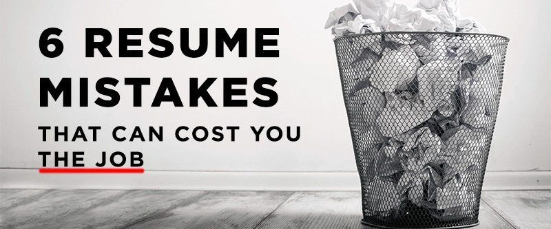 6 resume mistakes that can cost you the job Pinterest Resume writing - resume mistakes