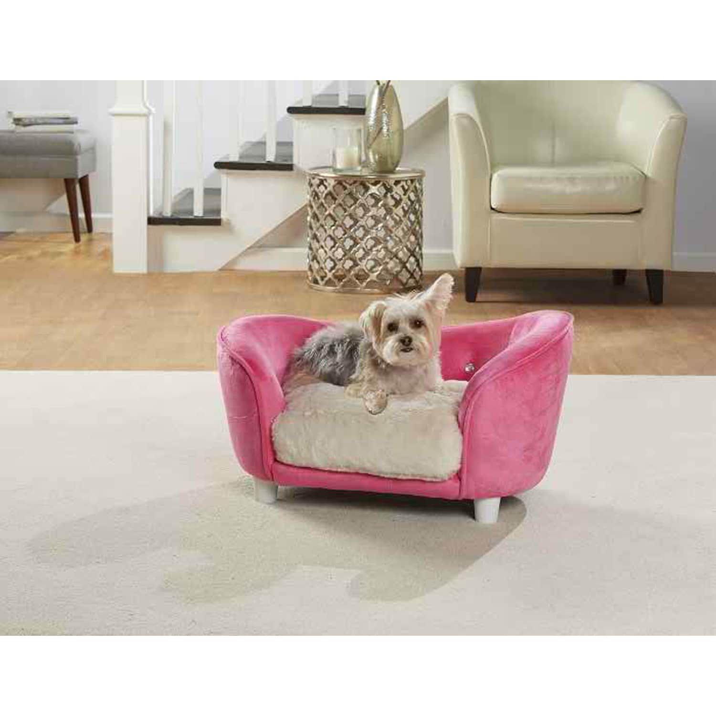 Bright Pink Plush Cream Snuggle Pet Sofa In 2018 Products