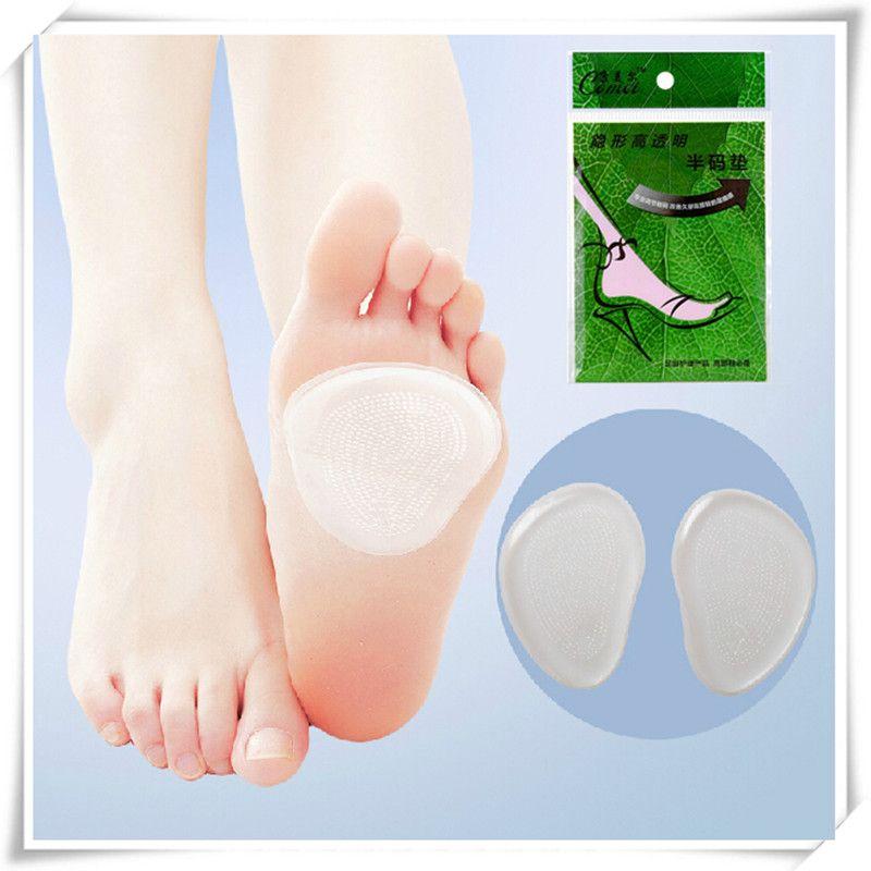 2 stks/paar voeten zorg vrouwen hoge naaldhak protector Transparant siliconen binnenzool pijn verlichten hoge hakken protector