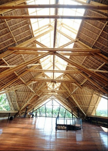 Eco friendly building material bamboo for Bamboo roofing materials
