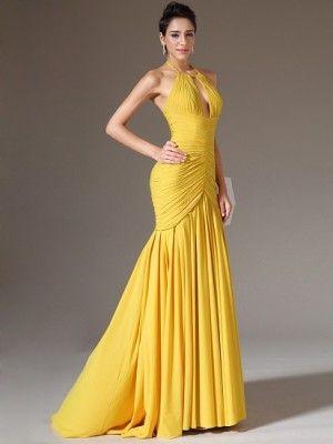 7a289b5c2 vestidos largos amarillos bello