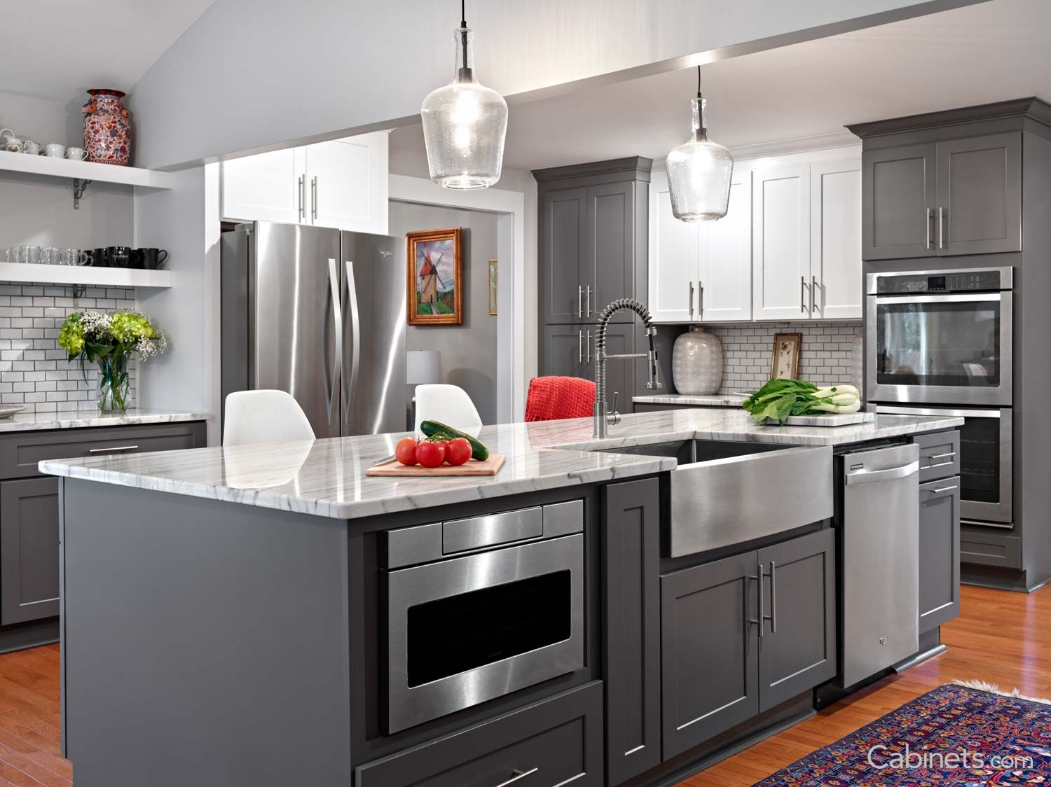 Shaker Rta Birch Gray Contemporary Kitchen Cabinets Cheap Kitchen Cabinets Shaker Kitchen Cabinets