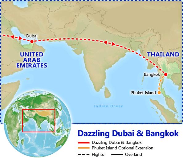 Dazzling dubai bangkok tour itinerary map dazzling dubai dazzling dubai bangkok tour itinerary map dazzling dubai bangkok discount vacation packages gumiabroncs Image collections