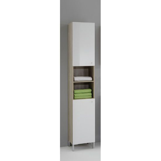 bilbao3 freestanding tall bathroom cupboard 17995 bathroomcabinet furnitureinfashion - Tall Bathroom Cabinets Uk