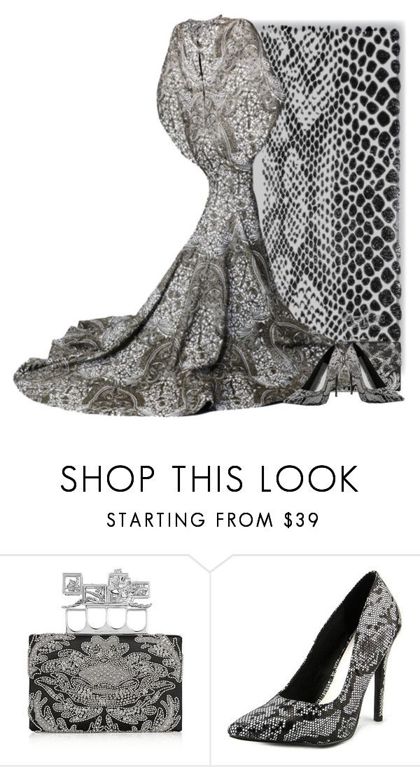 """""""Skin"""" by beet-1 ❤ liked on Polyvore featuring Alexander McQueen, Zac Posen and Michael Antonio"""