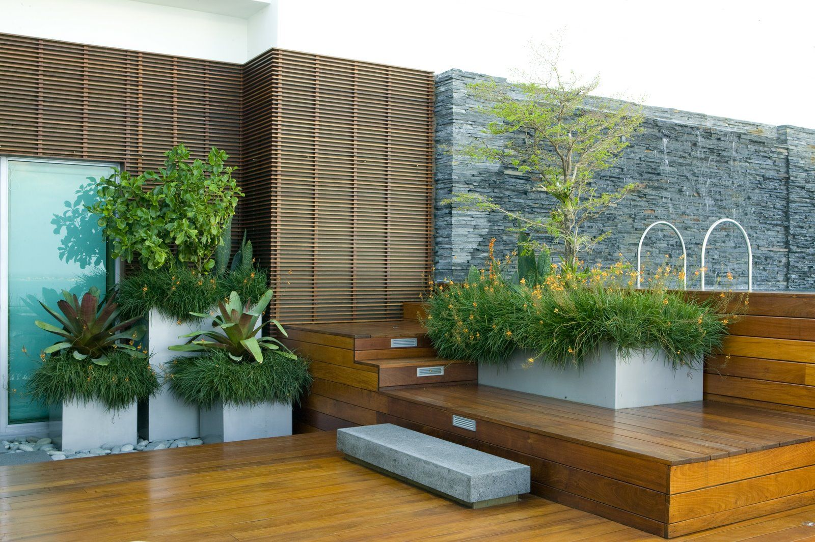 Modern Designs Rooftop Garden With Good Landscaping Ideas And Decks