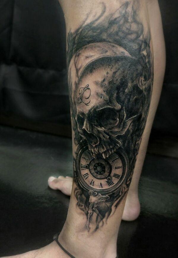 Tattoos About Death : tattoos, about, death, Death, Skull, Tattoo, Https://www.instagram.com/p/BXsJYM0lzM_/?taken-by=bruce.redgrey, Tattoos,, Tattoos, Women,