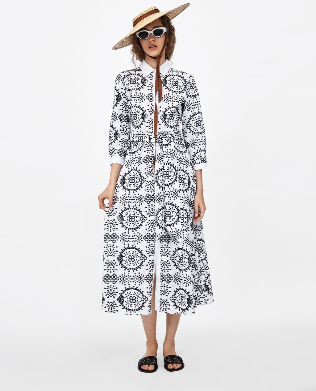 834ff11012 Image 1 of TUNIC WITH CONTRASTING EMBROIDERY from Zara