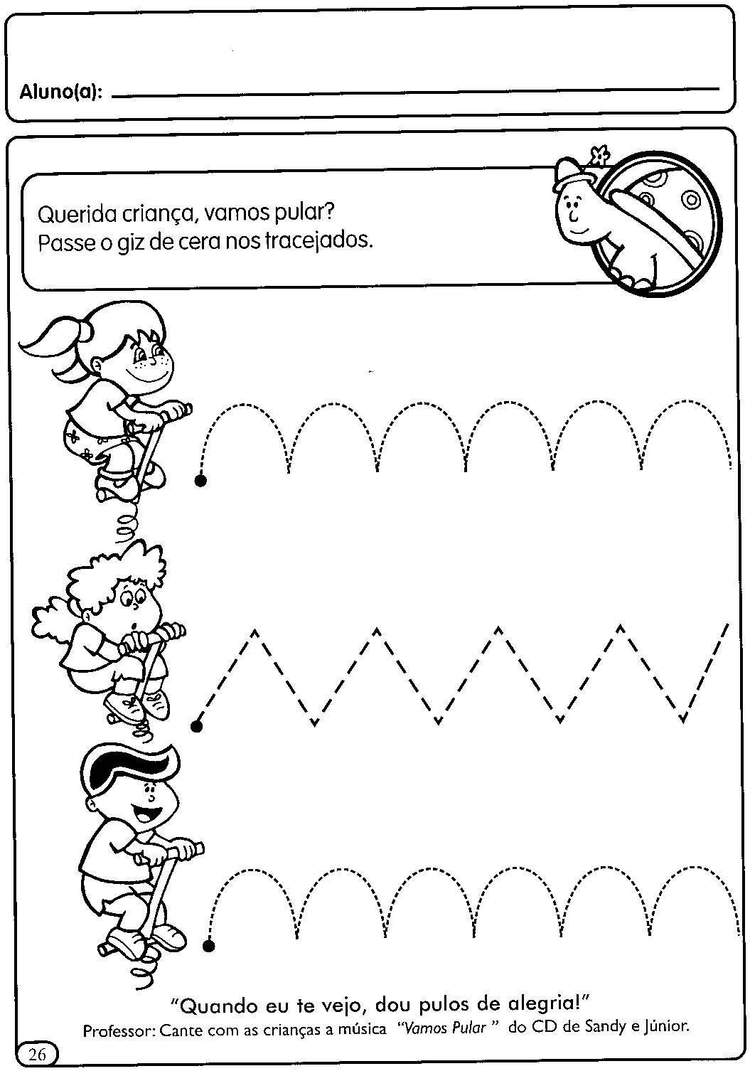 Atividades Com Tracejado Para Maternal Cantinho Do Educador