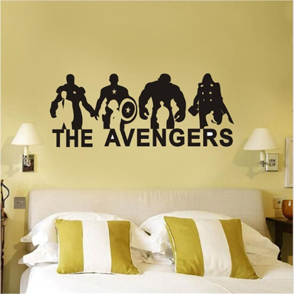 DIY Vinyl Wall Sticker The Avengers Anime Cartoon Art Vinyl Wall ...