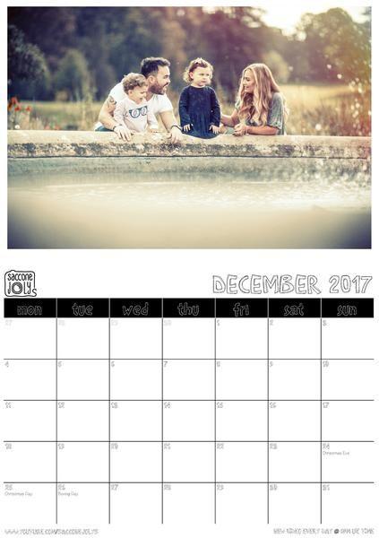 2017 Annual Calendar youtube Pinterest