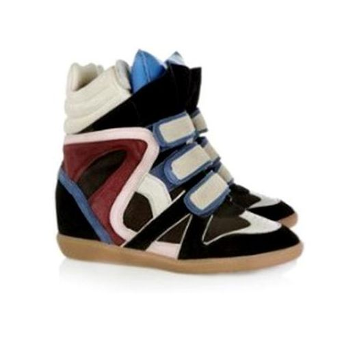 Isabel Marant Willow High-top Sneakers Red Black