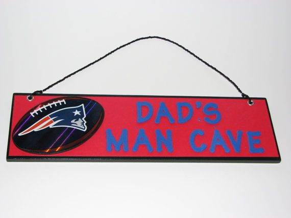 Man Cave Signs Personalized Uk : Nfl new england patriots football dad's man cave sign personalized