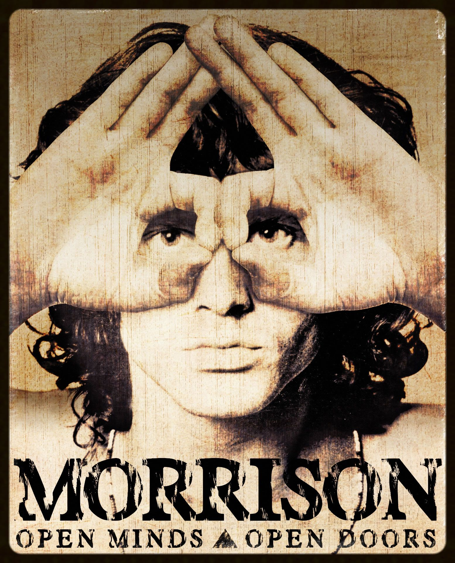 Jim Morrison   Open Minds Open Doors X X Hi Definition Tempered Polished  Glass Wall Panel With Deep Black Semi Gloss LED Light Box, On/Off Remote  Key ...