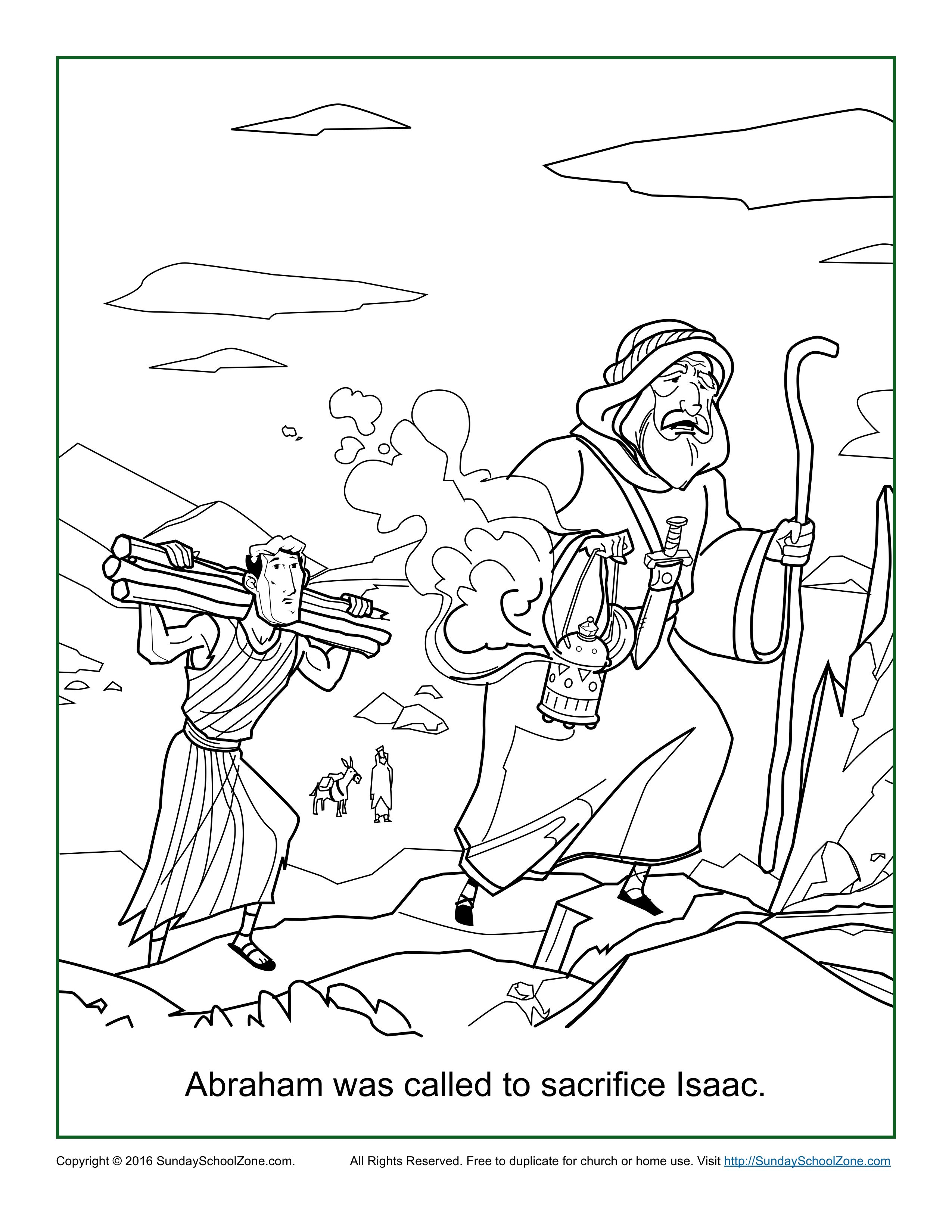 Abraham Was Called to Sacrifice Isaac Coloring Page - Children's Bible  Activities   Sunday School Activities for Kids   Sunday school coloring  pages [ 3300 x 2550 Pixel ]