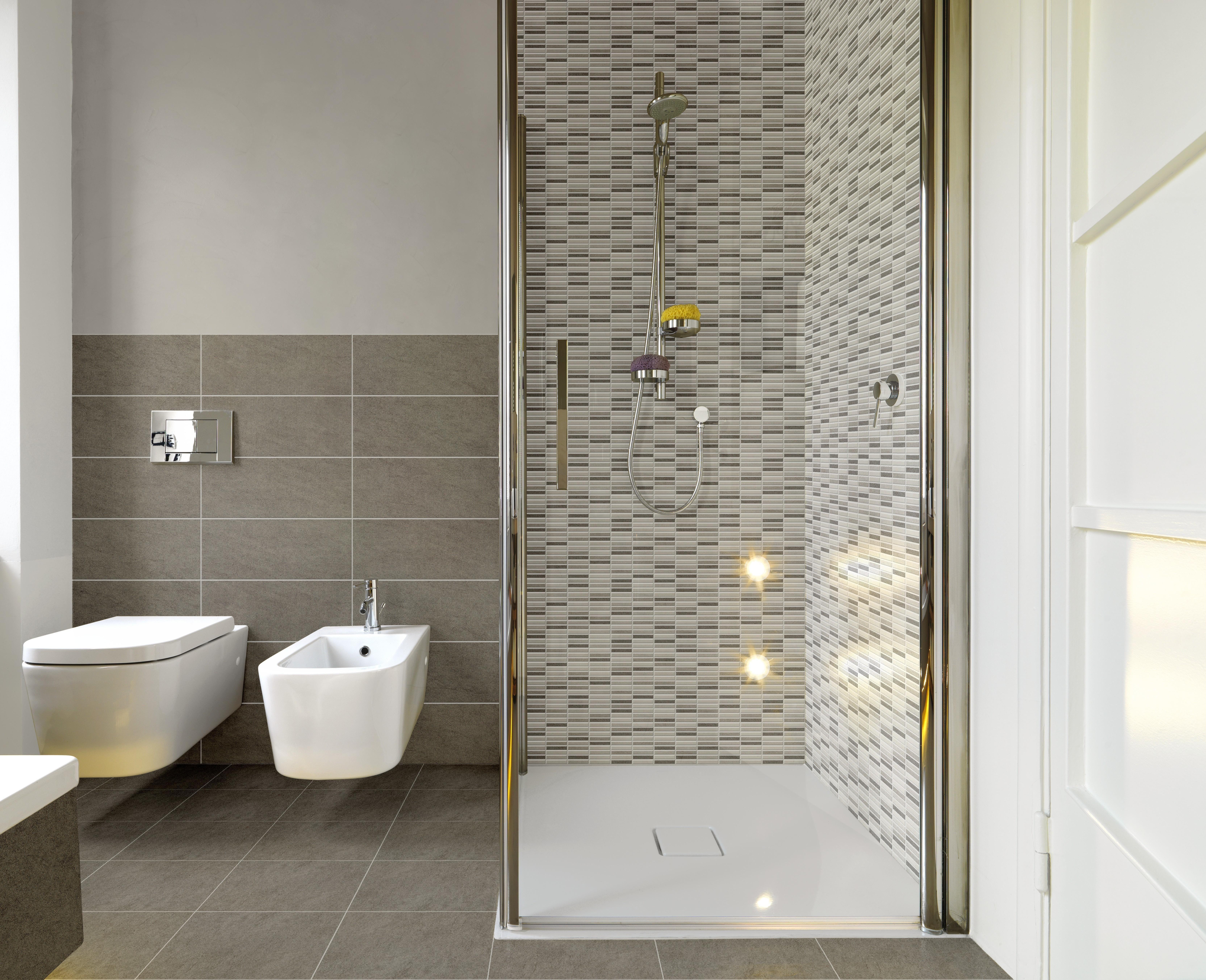 Rivestimemti bagno rivestimento bagno cross grigio perla 20x50x0 7 cm bicottura arredamento - Rivestimento bagno grigio ...